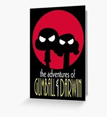 The Adventures of Gumball & Darwin Greeting Card