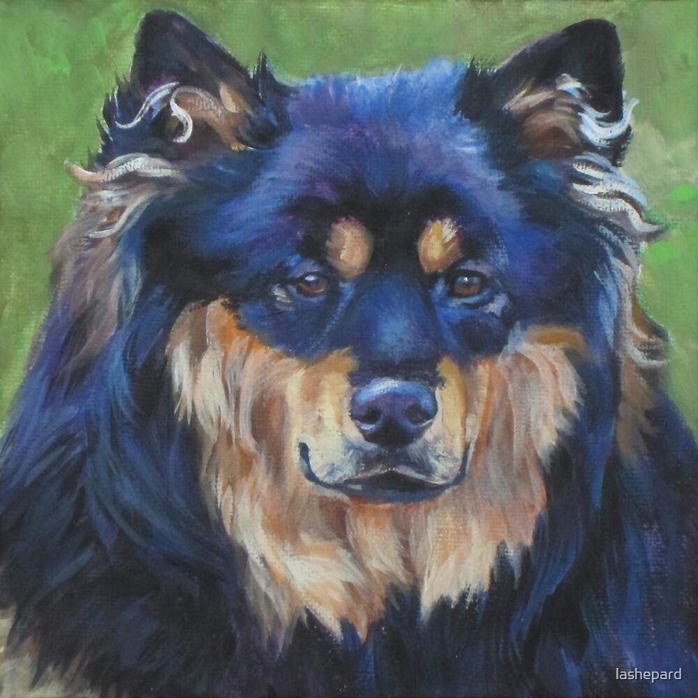 Finnish Lapphund Fine Art Painting by lashepard