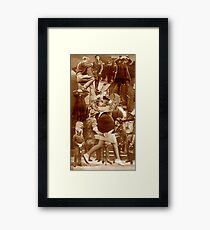 Raw Collage the Hostage. Framed Print