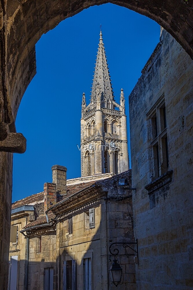 France. Saint-Emilion. Arch. Bell Tower. by vadim19