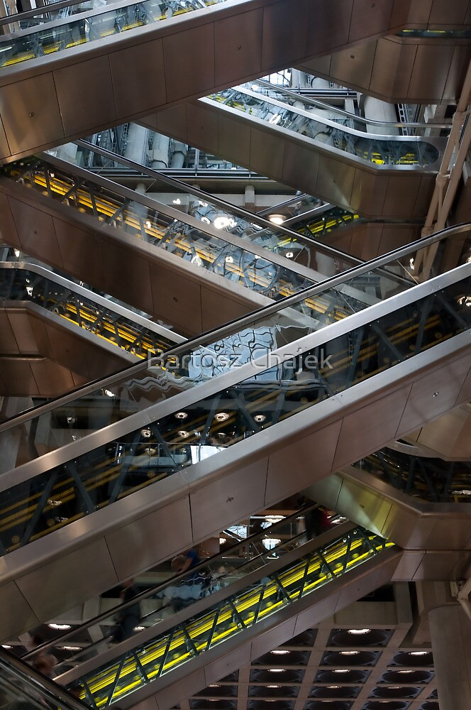 Lloyd's Building - elevators by Bartosz Chajek
