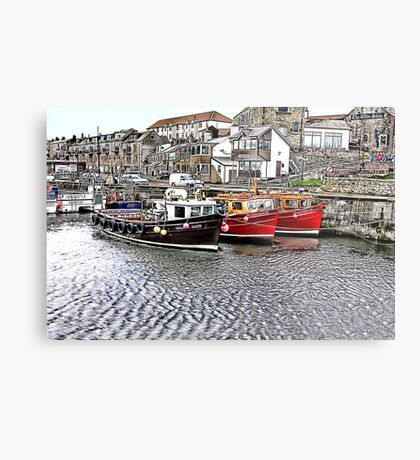 The Harbour at Seahouses,Northumberland Metal Print