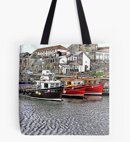 The Harbour at Seahouses,Northumberland Tote Bag
