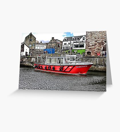 Serenity at Seahouses,Northumberland Greeting Card