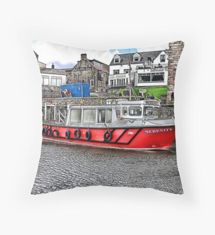 Serenity at Seahouses,Northumberland Throw Pillow
