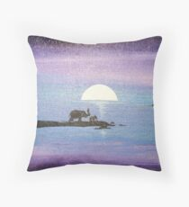Dawn of Peace: Elephants: Father and Son Throw Pillow