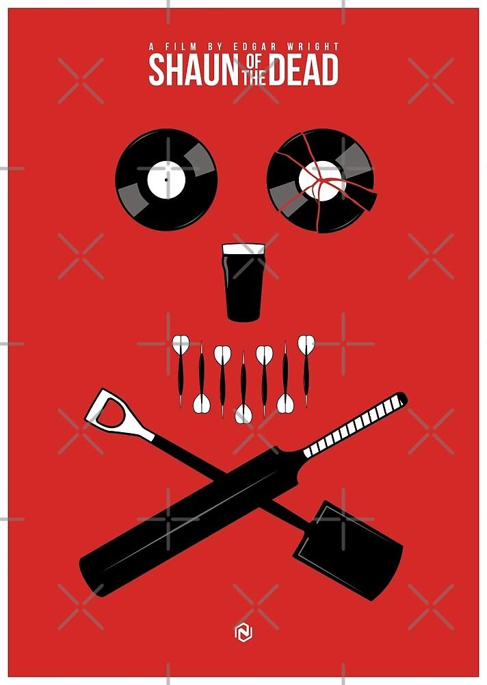 Shaun of the Dead - Skull by Nick Kemp