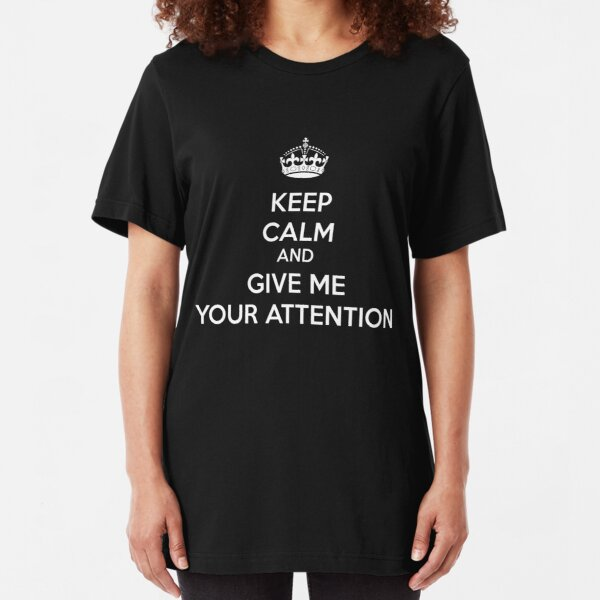 Eurovision - Keep calm and give me your attention - Norway Slim Fit T-Shirt