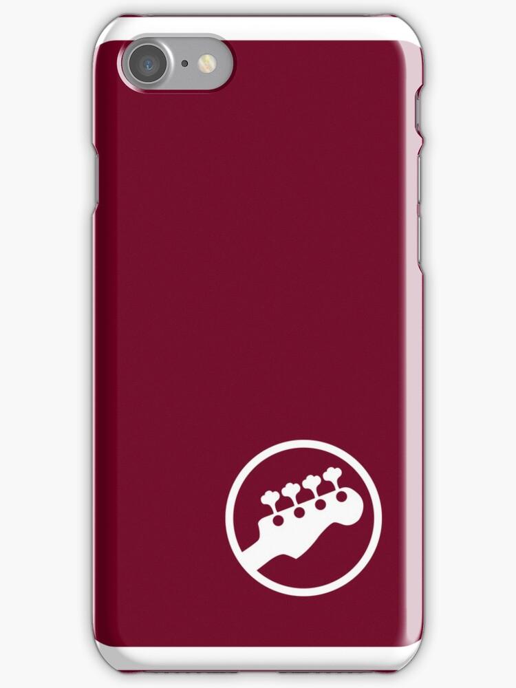 "Bass Headstock ""Ringer"" style (Scott Pilgrim - iPhone case) by maclac"