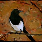 Autumn magpie by Jeremy Wallace