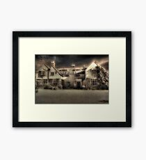 Mysterious Mansion Framed Print