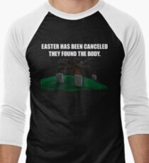 Ostern abgesagt Baseballshirt mit 3/4-Arm