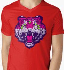 Seven-Eyed Tiger Men's V-Neck T-Shirt