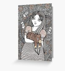 Alice & the Pig Baby Greeting Card