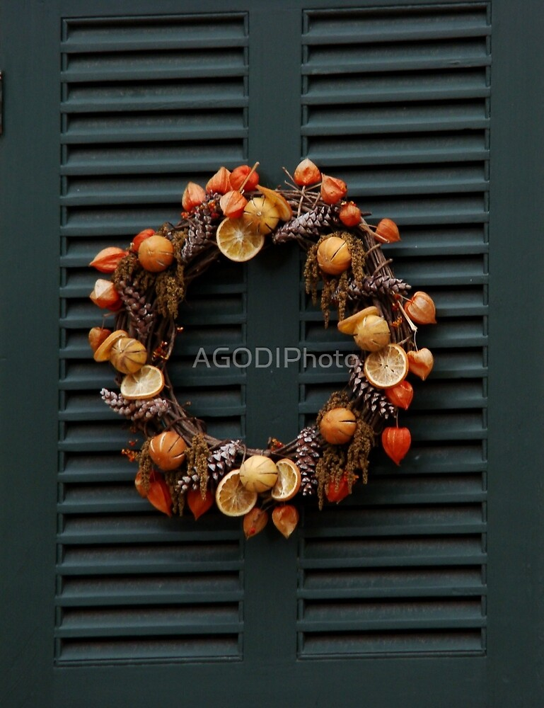 Orange Wreath by AGODIPhoto