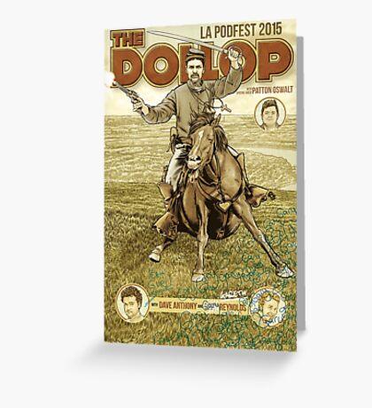 The Dollop - 2015 LA Podfest Poster: Boston Corbett Greeting Card