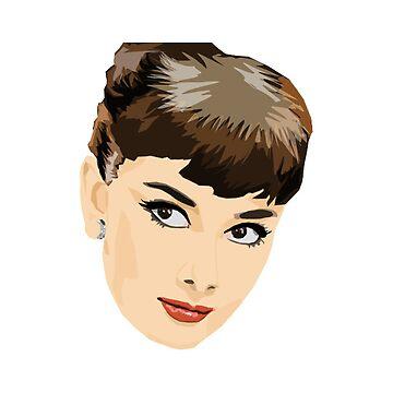 Audrey Hepburn Vector by firefoxx