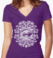 Third eye Women's Fitted V-Neck T-Shirt