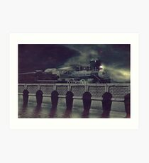 Steaming on By Art Print