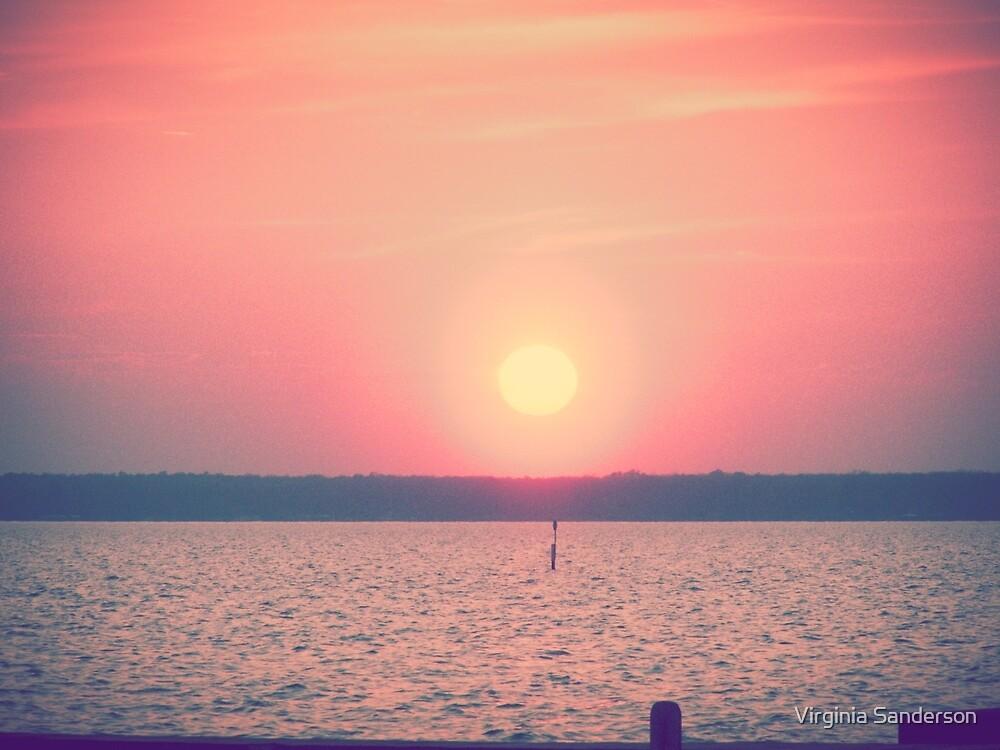 Sunset at Lake Waccamaw, NC by Virginia Sanderson