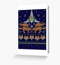 Foxy Threads Greeting Card