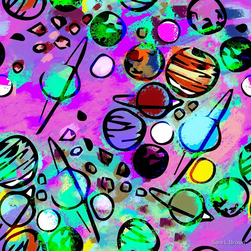 Planet pattern by Sam L Brown