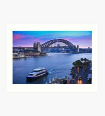 Sydney Harbour Sunrise Art Print