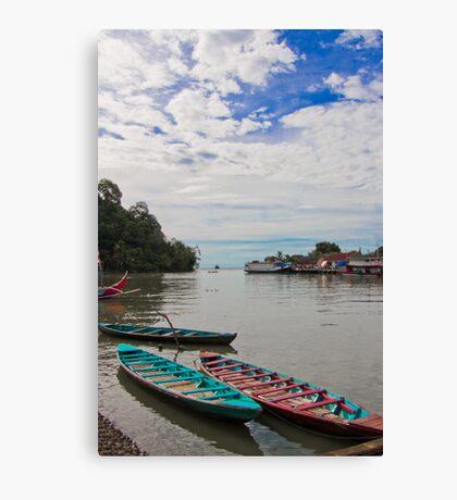 Boat harbour, Padang Canvas Print