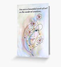 Greeting Card - Work of Art Greeting Card