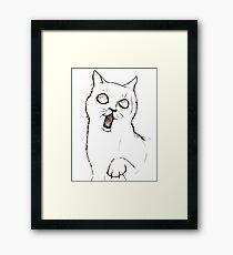 Cat Sketch Framed Print