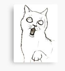 Cat Sketch Canvas Print