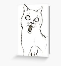 Cat Sketch Greeting Card