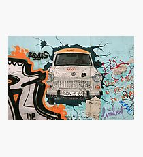 Fragment of Berlin wall Photographic Print