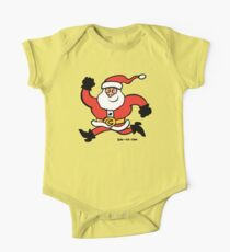 Running Santa Claus One Piece - Short Sleeve