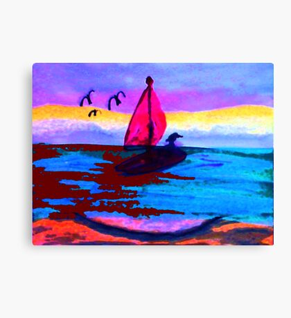 The red tide, watercolor Canvas Print