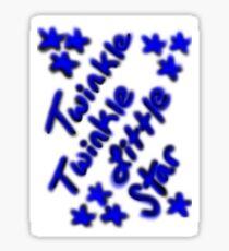 Twinkle Twinkle Little Star Sticker