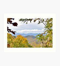 Bunches Bald Overlook on the Blue Ridge Pkwy NC Art Print