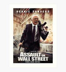 Bernie Sanders Attack on Wall Street Art Print