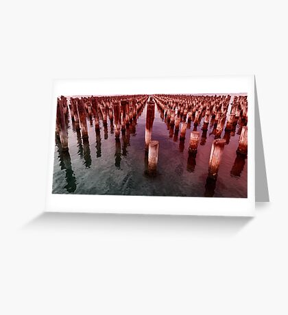 Prince's Pier Port Melbourne Greeting Card