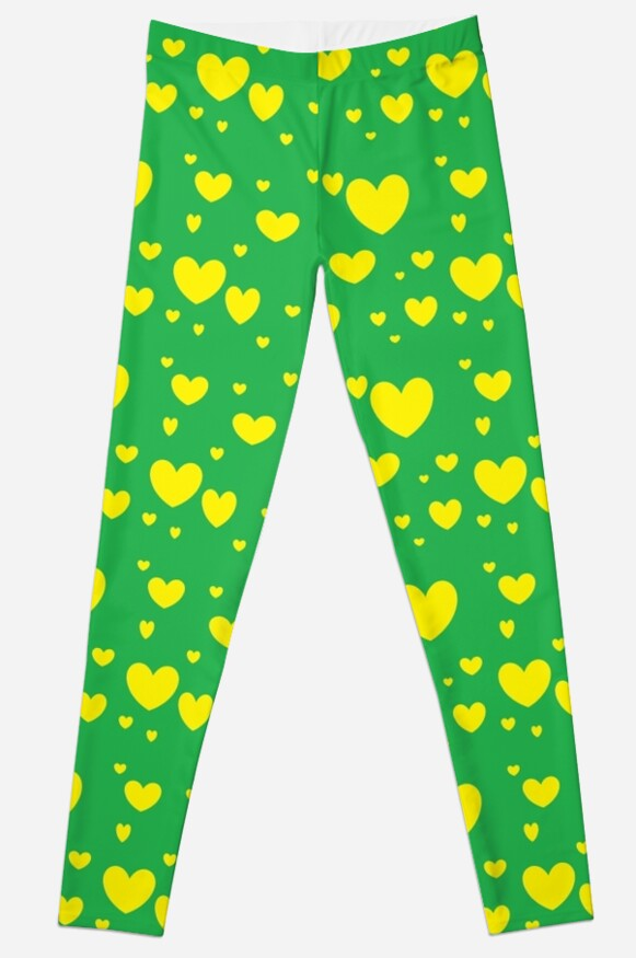 Green and Yellow Green and Yellow Hearts2 by sunshyn256