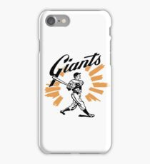 San Francisco Giants Schedule Art from 1958 iPhone Case/Skin