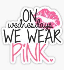 Pegatina Vestimos rosa los miércoles