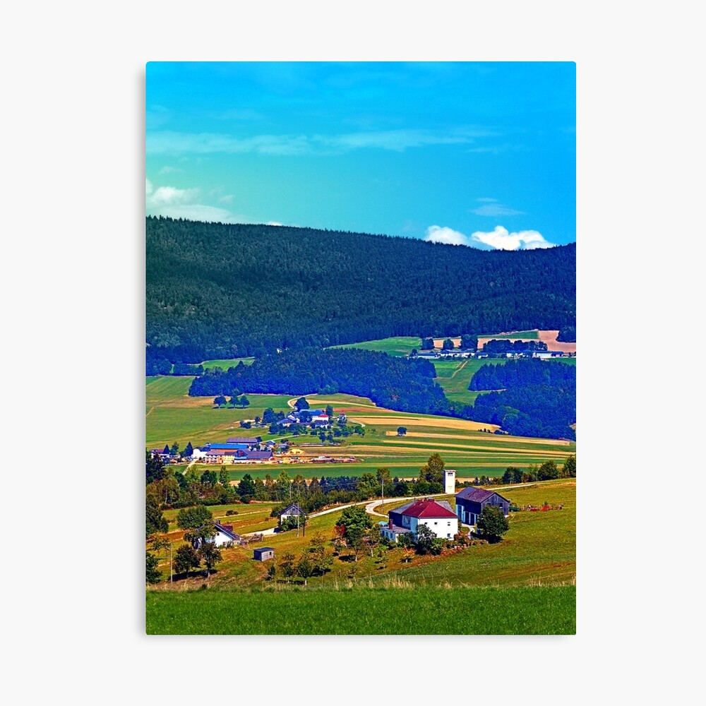 Some boring autumn scenery Canvas Print