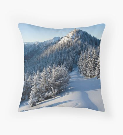 Sulphur Mountain Throw Pillow