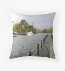 Loch Latrine Throw Pillow