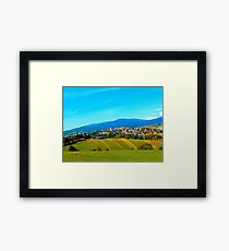 Unsettled geography Framed Print