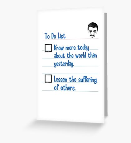 To Do List Greeting Card