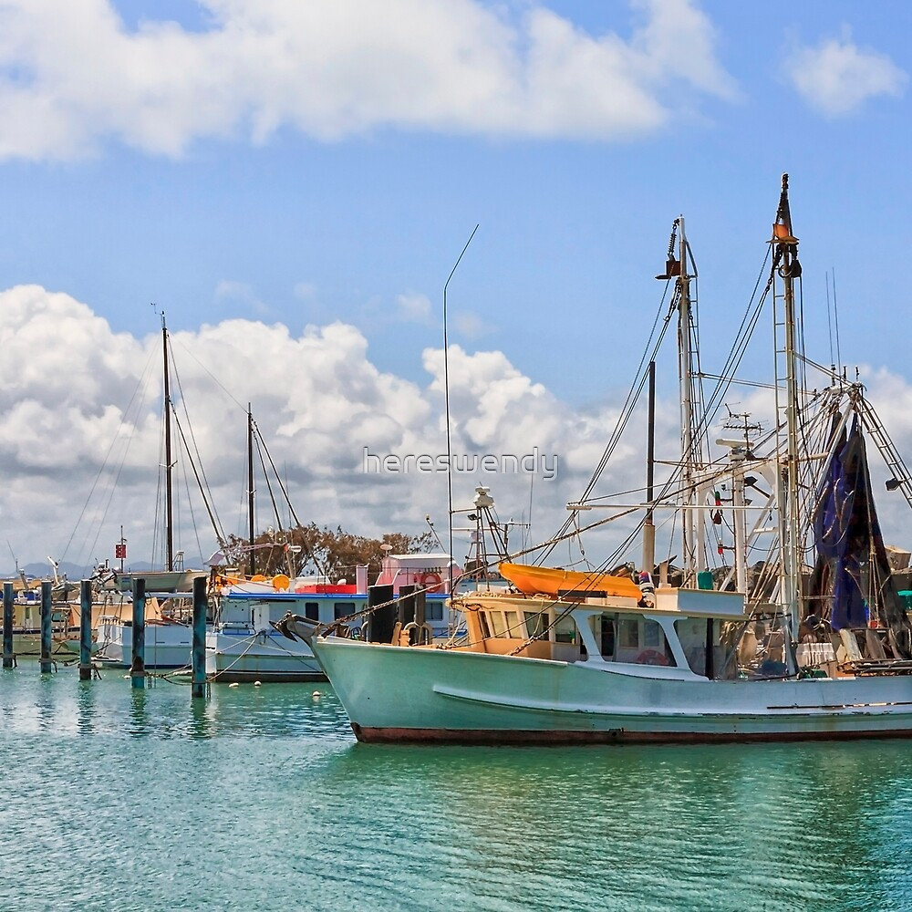 Moored Boats in a beautiful harbour by hereswendy