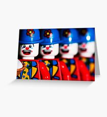 Send in the clowns. Greeting Card