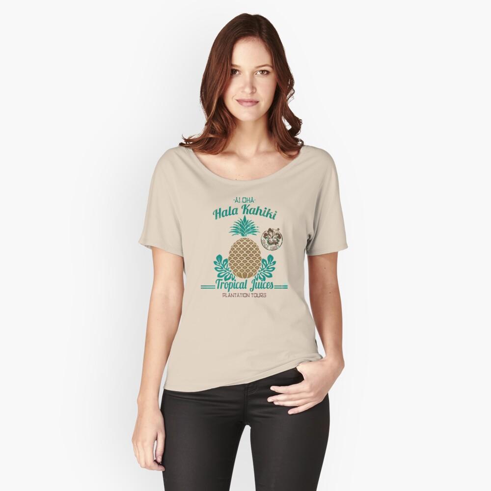 S / S 2015 - Piñas - Soporte de jugo Hala Kahiki Camiseta ancha